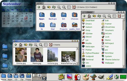 rox desktop file manager
