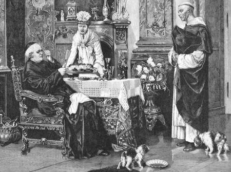 Prete a tavola. Solo un digiuno parziale (part.) 1879