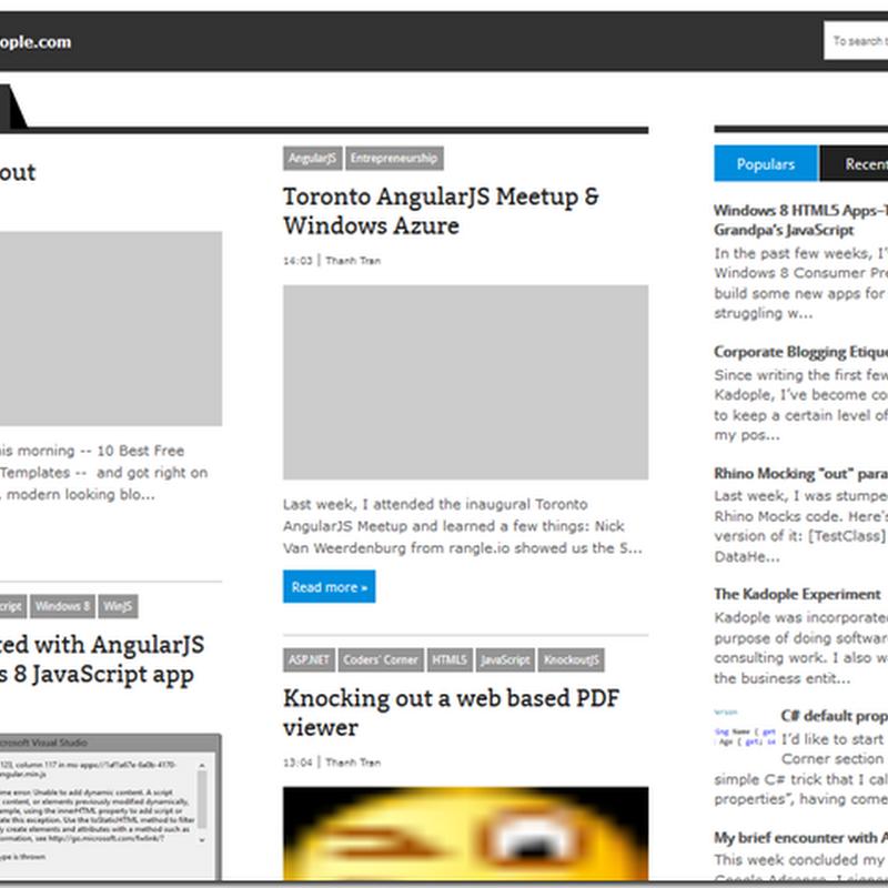 New blog layout (v0.2)