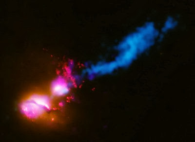 Black Hole Fires at Neighboring Galaxy