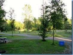 6900 Sleepy Cedars Campground Greely Ottawa - evening walk shows empty campground