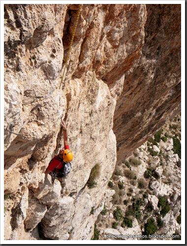 Via Costa Blanca 250m 6c  (6b A0 Oblig) (Peon de Ifach, Alicante) (Isra) 2438