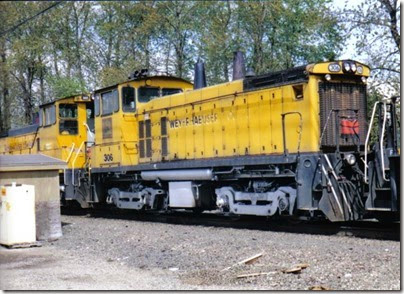 Weyerhaeuser Woods Railroad (WTCX) SW1500 #306 at Longview, Washington on May 17, 2005