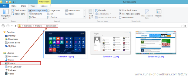 Captured file in Windows 8 RTM