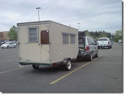 cute junky little homemade trailer 
