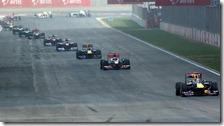 Vettel guida il gruppo nel gran premio d'India 2011