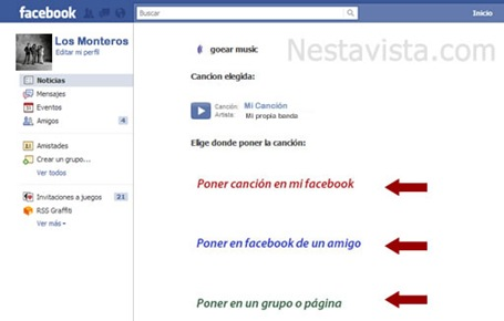 Subir archivos de audio a Facebook 3