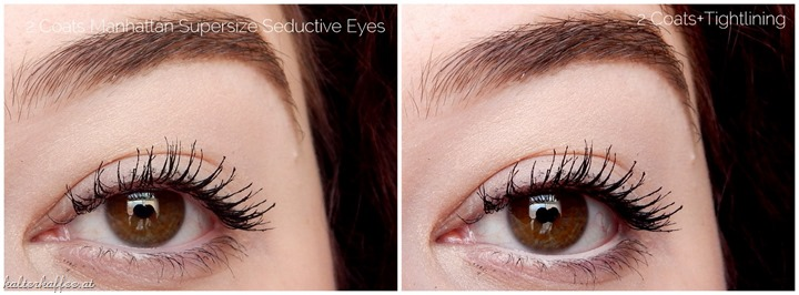 Manhattan Supersize Seductive Eyes Mascara applied