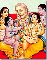 [King Dasharatha with children]