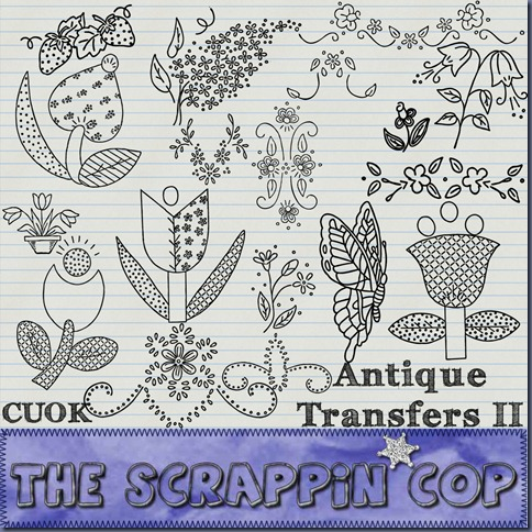 "Free ""Antique Transfers 2"" from The Scrappin Cop - {CU}"