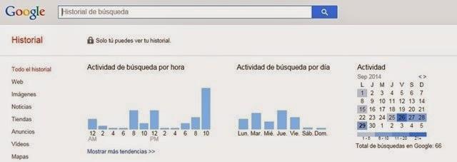 #3. Encuentra tu historial de búsquedas en Google