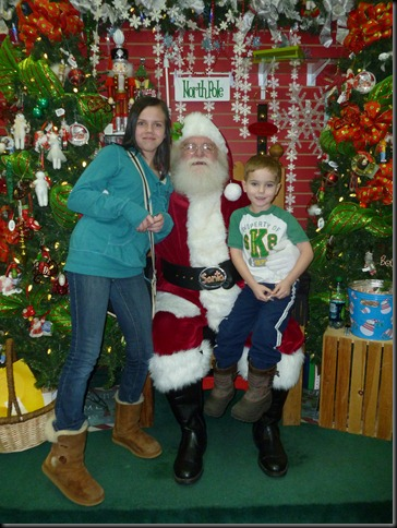 Emily and Lucas with Santa