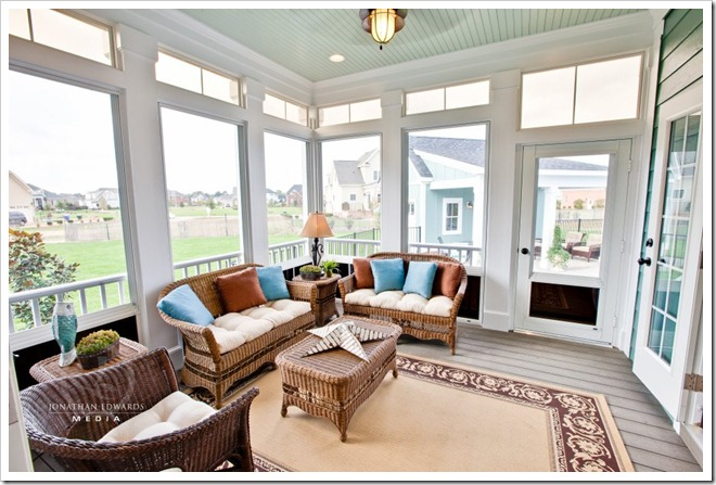 screened porch - Decorating a Dream Home - www.sandandsisal.c