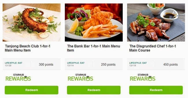 Starhub rewards food