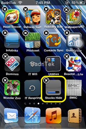 create blank spaces on the home screen no jailbreak apps directories