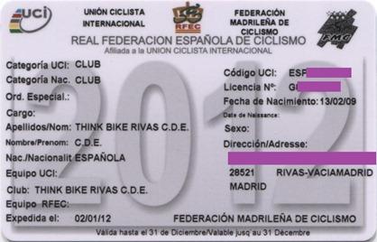 Licencia federativa THINK BIKE 2012