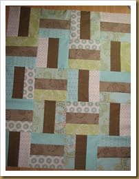 Pram Quilt Top finished - Copy