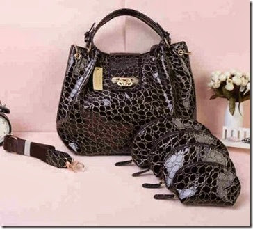 SY LV Cerco Croco Black Set (360.000), 32 x 19 x 26