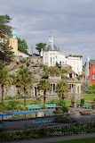 Portmeirion with the sun breaking through