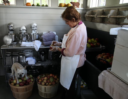 Phew!  Laura is just washing apples.