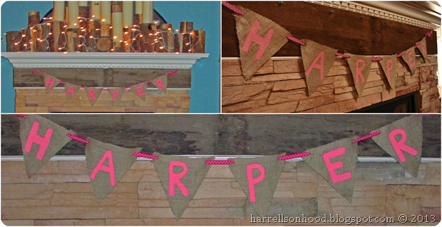burlap banner for baby shower