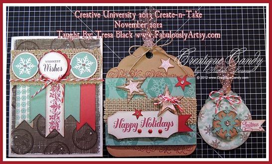 Creative University 2013 November 2012 Create-n-Take