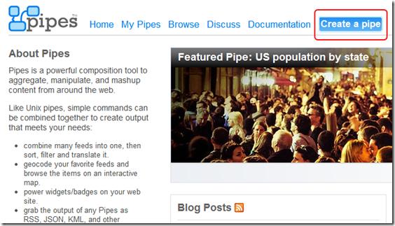Pipes- Rewire the web