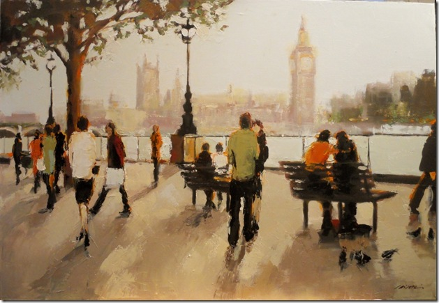 Two By the Thames 24 x 36