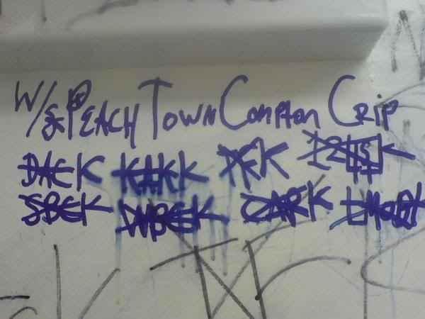 Compton Crip Graffiti Peach Town Compton Crip