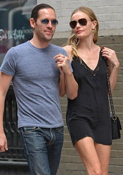 Kate Bosworth Wear Short Black Dress & Engagement Ring