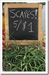 garlic scapes, woodstock farm festival, clove valley csa
