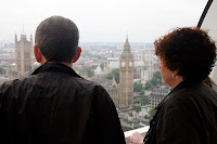 Looking out at Big Ben