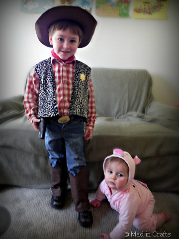 homemade Toy Story costumes