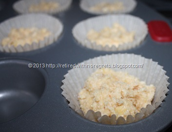 Sugar Crusted Tropical Muffins - b4 oven