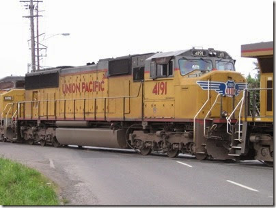 IMG_6307 Union Pacific SD70M #4191 at Peninsula Jct on May 12, 2007