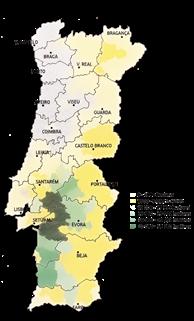 Mapa Distribuição Sobreiro
