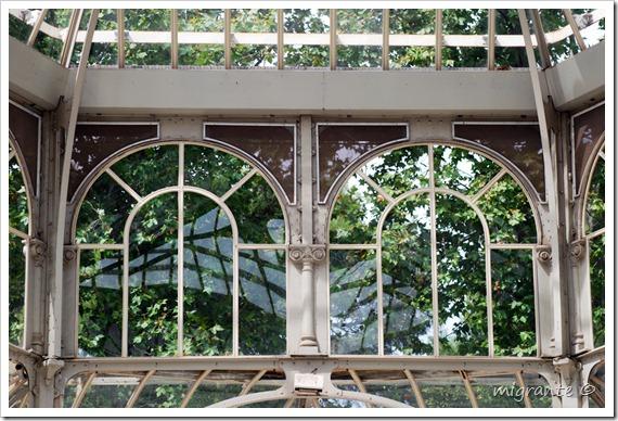 palacio de cristal - parque del retiro - madrid - transparencia