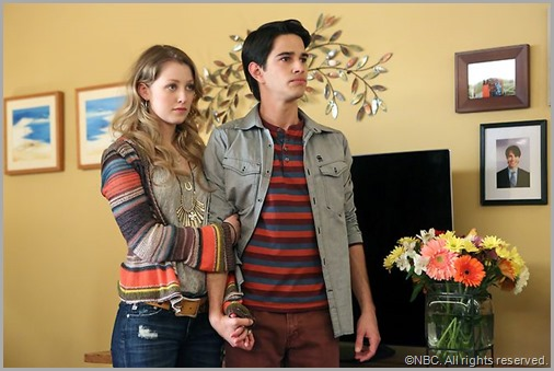 Ella Rae Peck and Joseph Haro from WELCOME TO THE FAMILY.