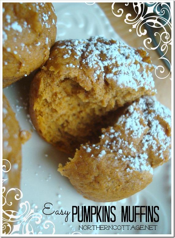 {Northern Cottage} easy pumpkin muffins