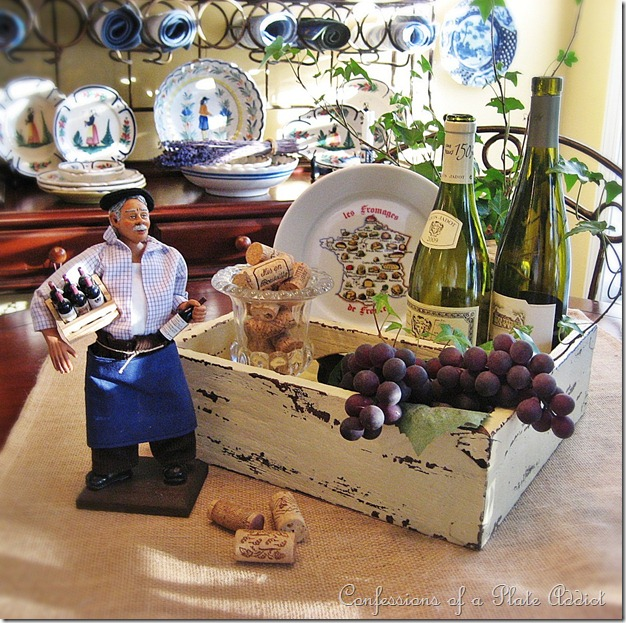 rustic French wine country centerpiece