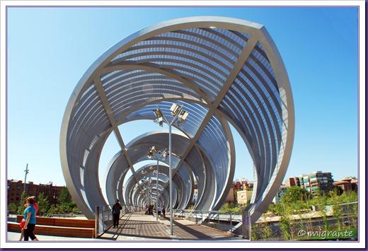 puente monumental de arganzuela - sector parque desde plaza mirador