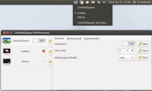 LiveWallpaper su Ubuntu