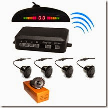 Auto Pearl Car Reverse Parking Sensor System with Led Display & Buzzer, silver for Rs. 709