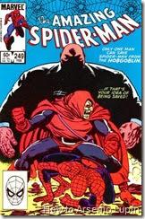 The amazing spider-man #249 al #251, un epico enfrentamiento entre el gran Hobgoblin y spidey, basado en el pasdo no solo de spidey, que desatara la primera saga marveliana en donde participa spidey y que trae consecuencias para el.