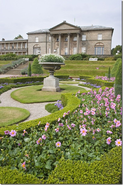 Tatton Park from Italian Garden Dahlias and Box JW