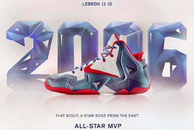 nike lebron 11 id all star mvp 1 01 A Decade of Moments // NIKEiD LeBron XI All Star Game MVP