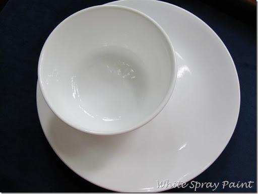 Corelle Dinnerware Again & Corelle Dinnerware Again - White Spray Paint