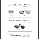 Villeroy & Boch in Wadgassen, Produktdatenblätter um 1900