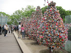 Seoul Tower: Love promise lock trees...