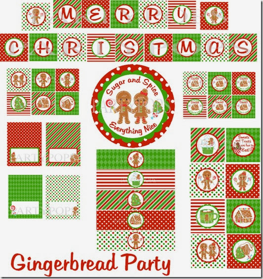 Gingerbread party pack 1